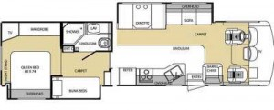 RV Rental Floor Plan